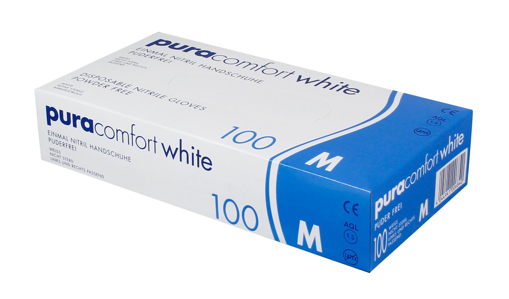 PURA COMFORT WHITE - Nitrilhandschuhe weiß