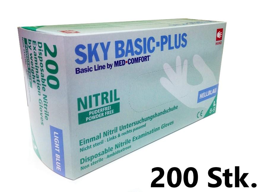 SKY BASIC PLUS 200 - Nitrilhandschuhe puderfrei