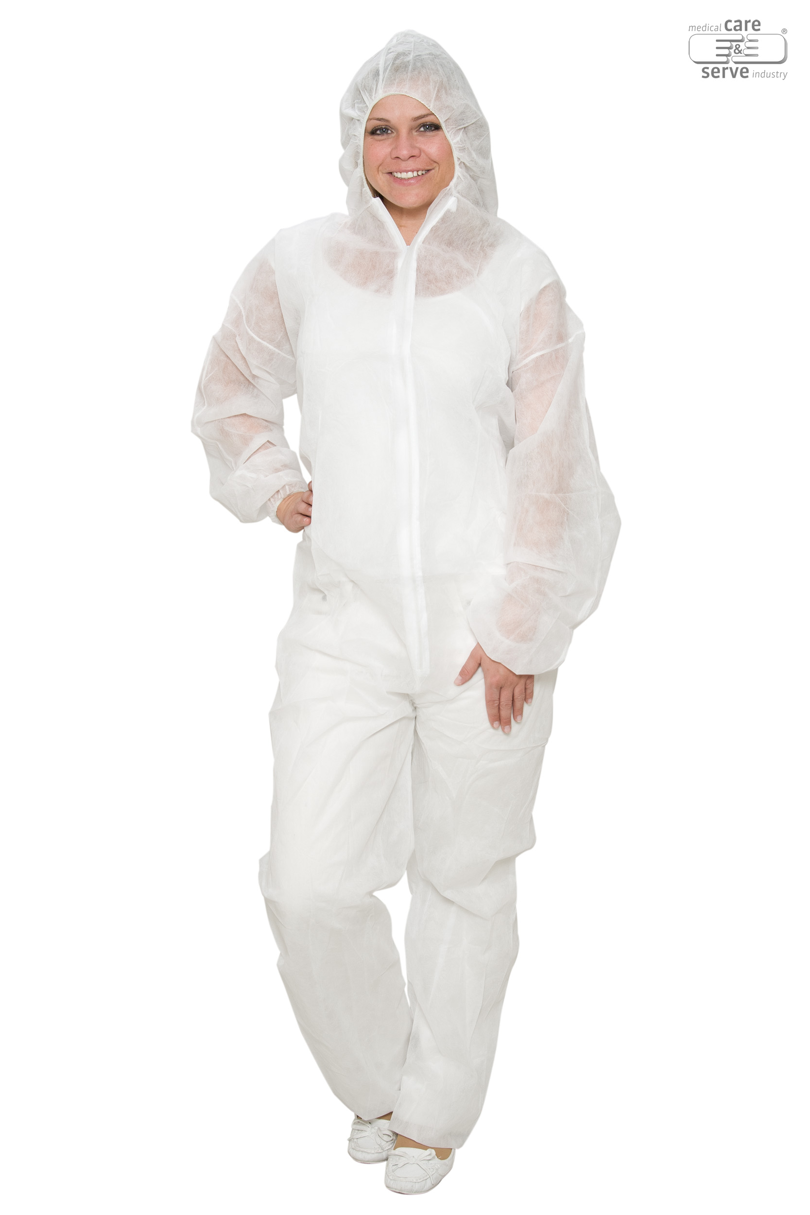 Wiros PP-Einweg-Anzug mit Kapuze