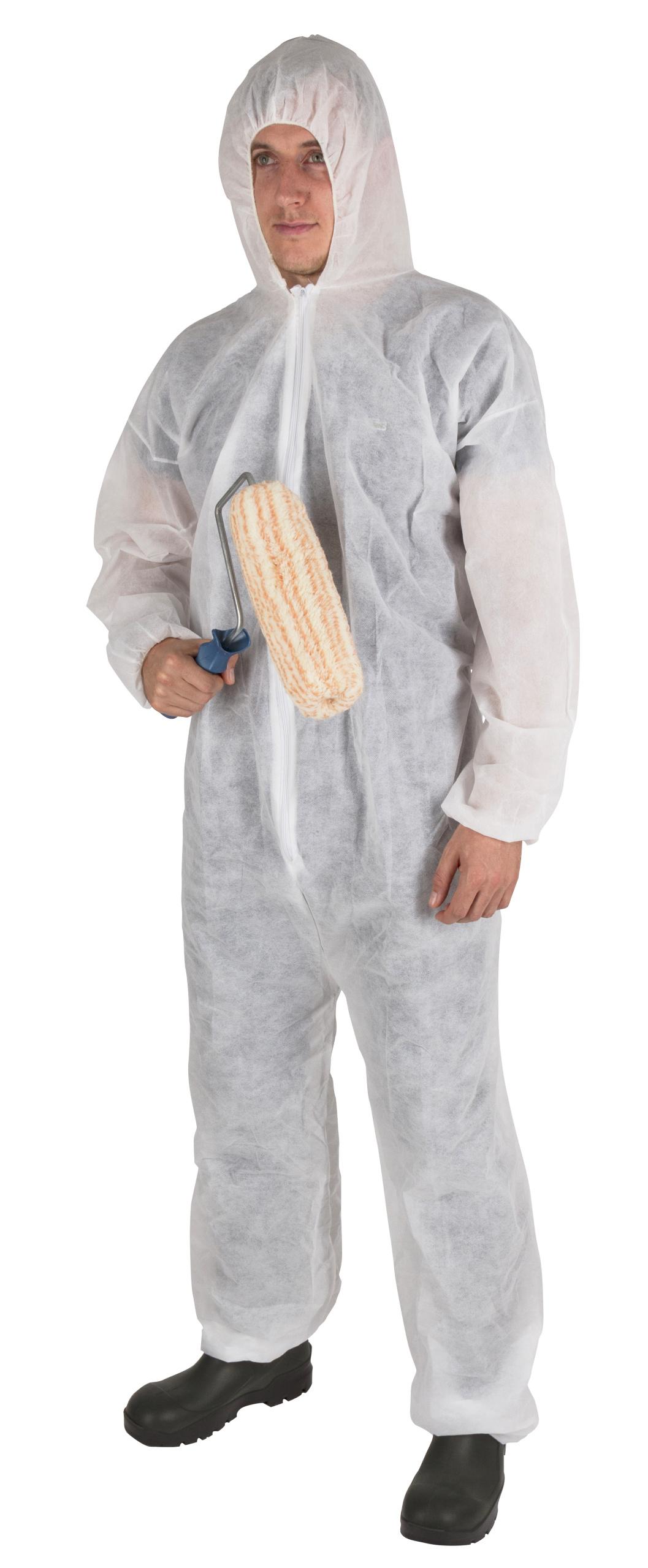 KERBL PP-Einweg-Anzug mit Kapuze