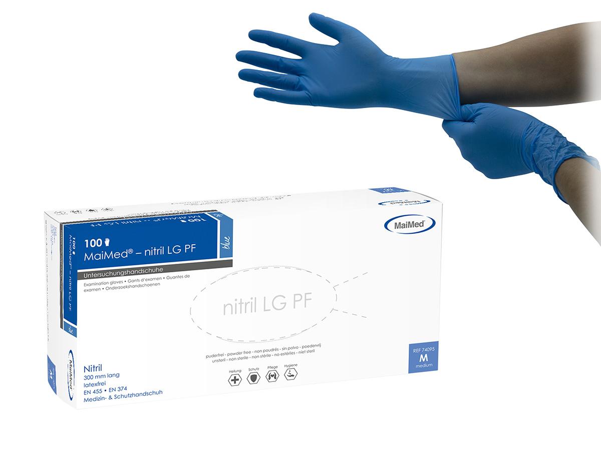 MaiMed Nitril LG 300 blue - Nitrilhandschuhe