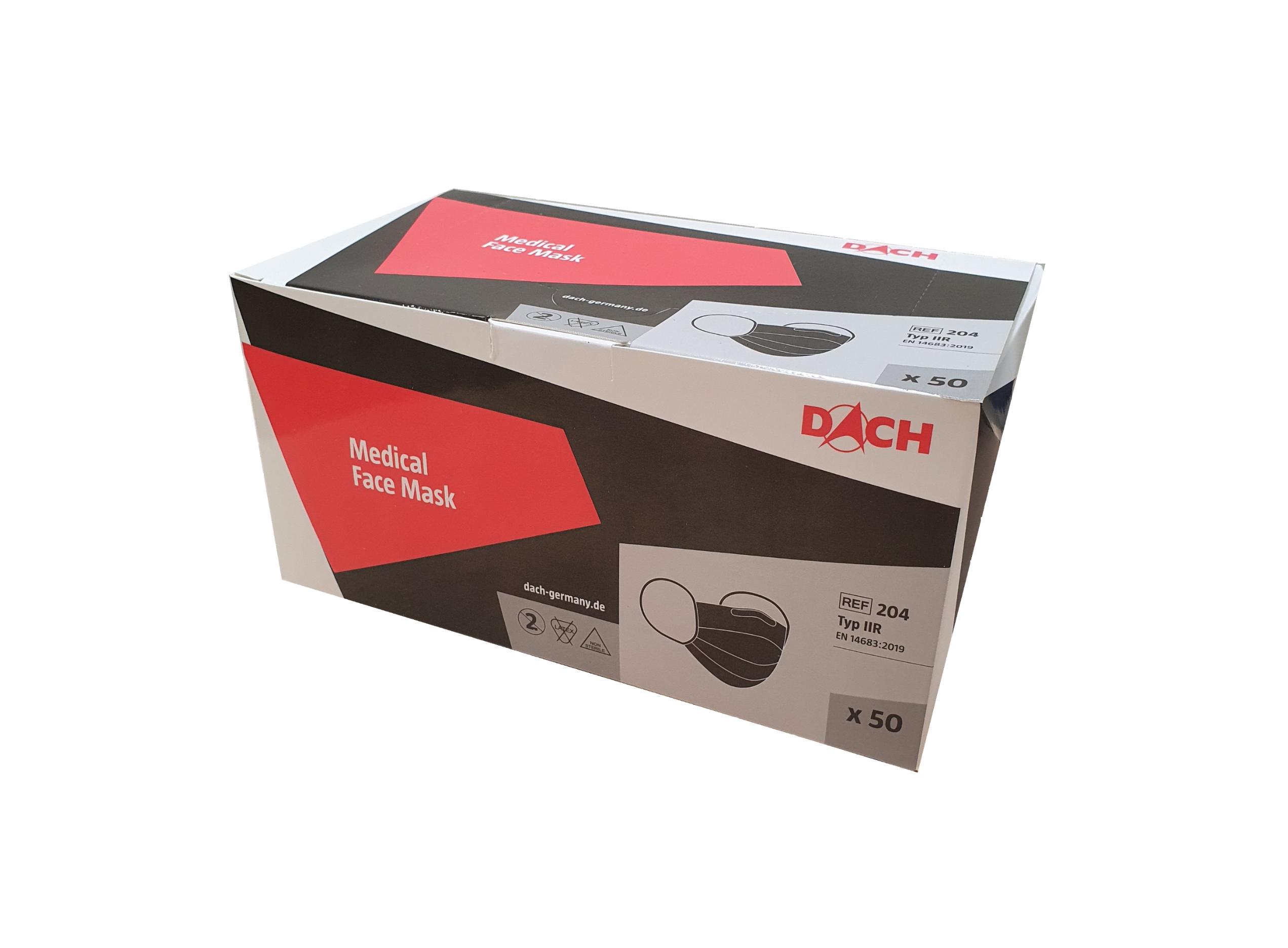 DACH - OP-Mundschutz mit Gummiband   Typ IIR