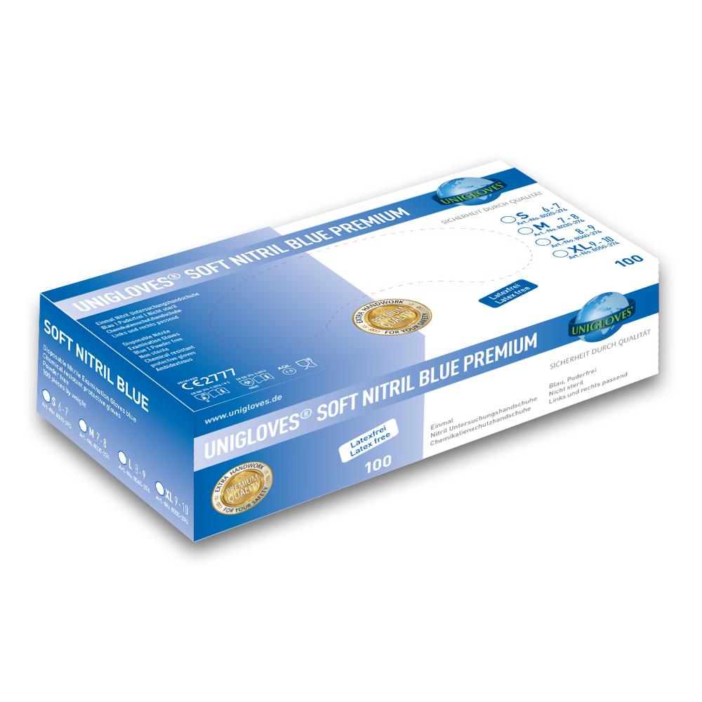 Unigloves Soft Nitril Blue Premium - Nitrilhandschuhe