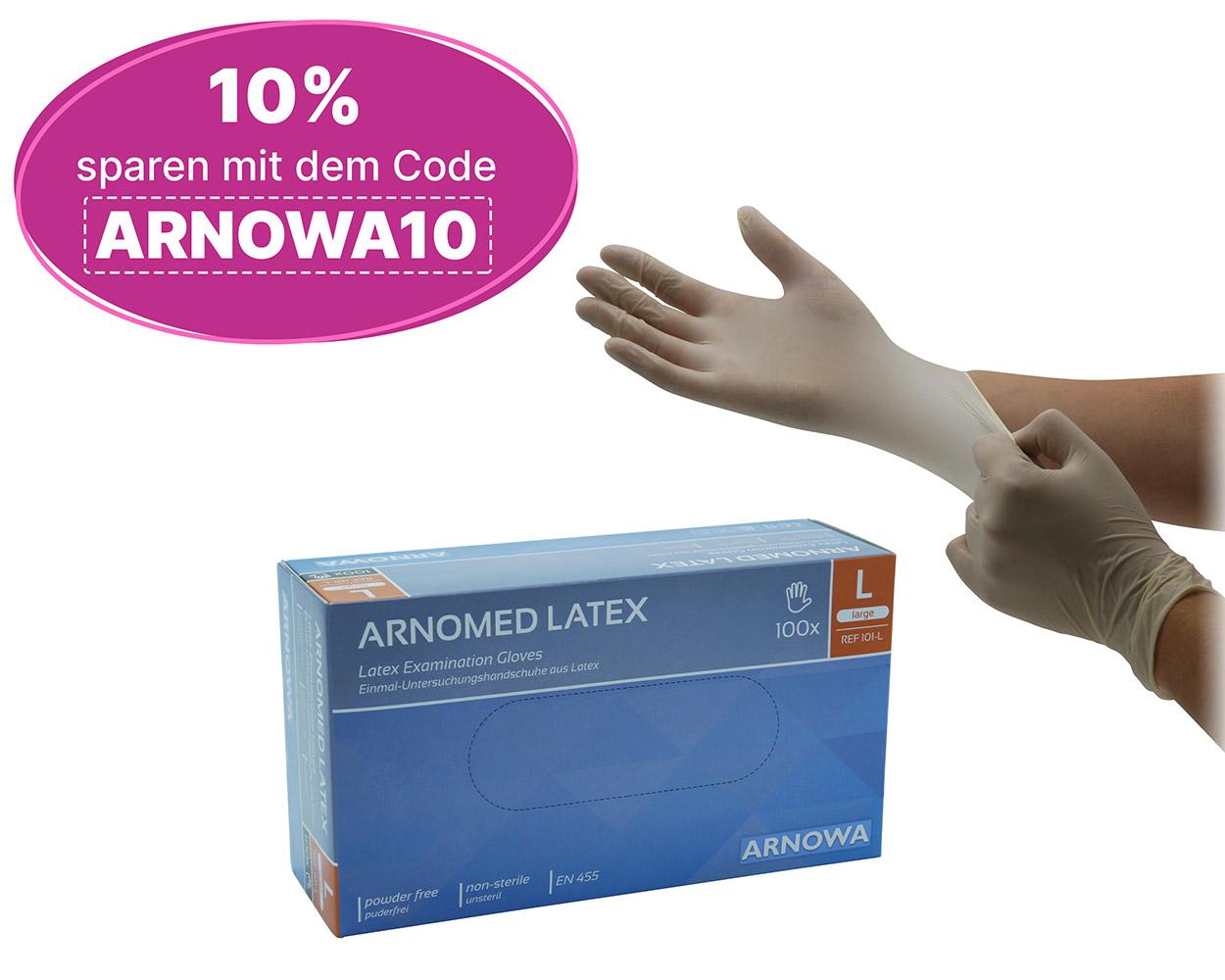 Produktbild ARNOMED Latex mit Jubiläumsbadge