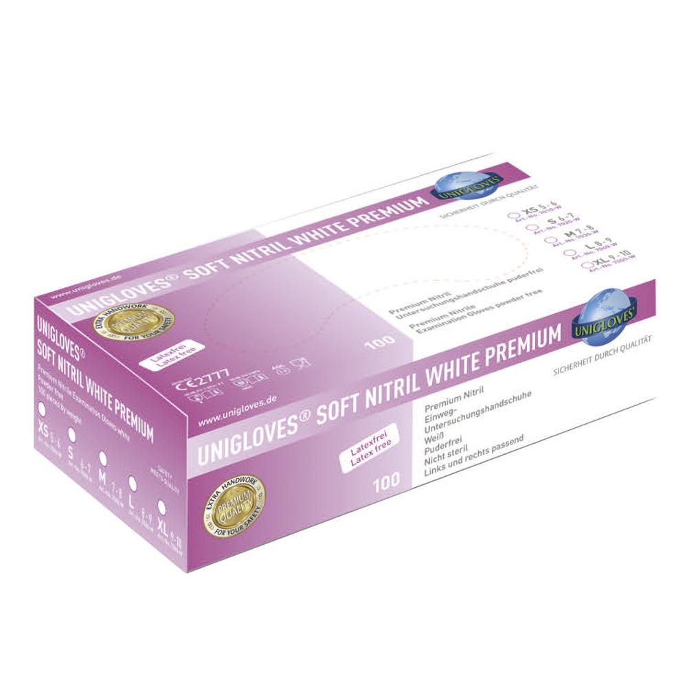 Unigloves Soft Nitril White Premium - Nitrilhandschuhe