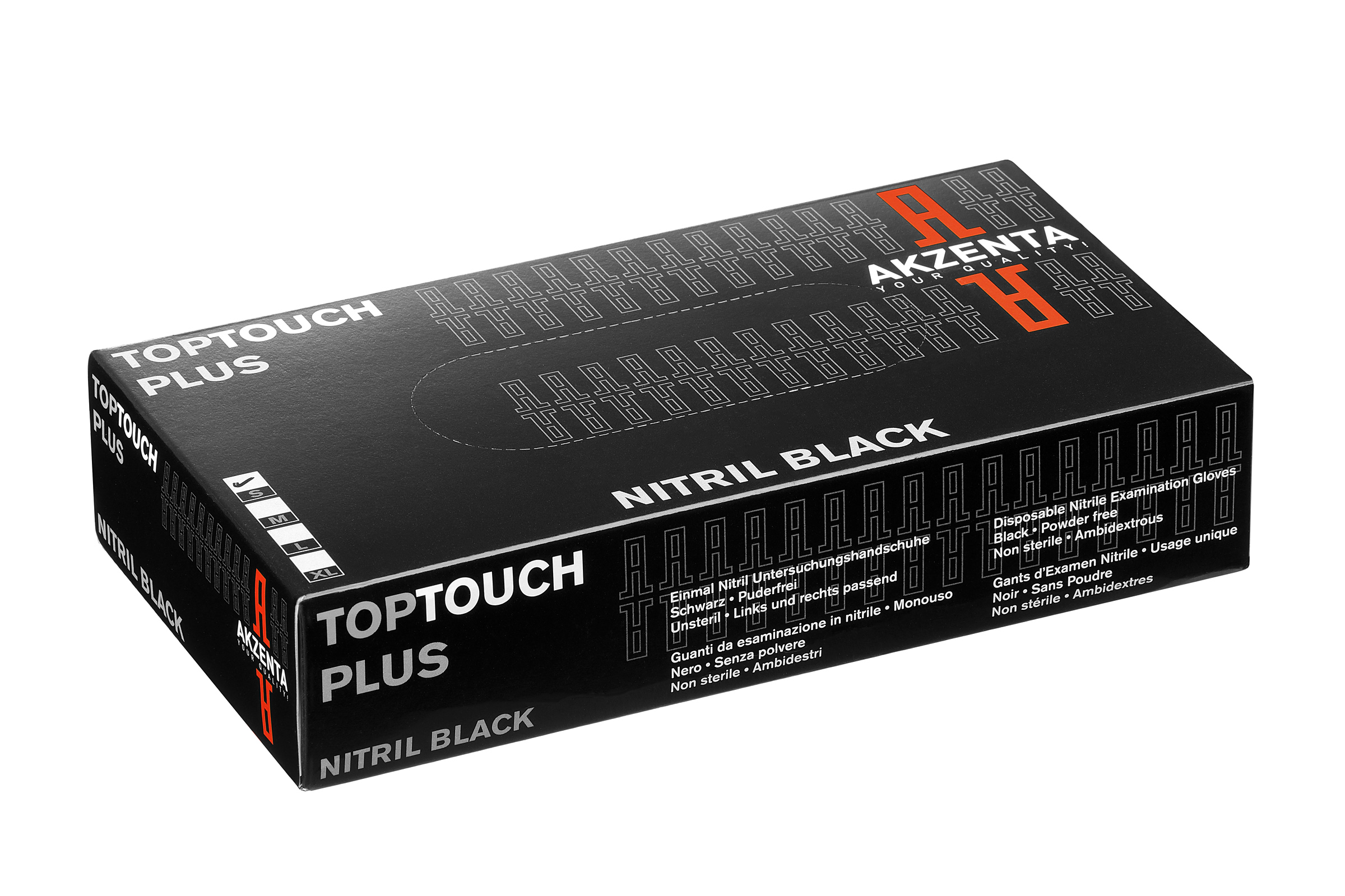 AKZENTA TOP TOUCH PLUS BLACK - Nitrilhandschuhe