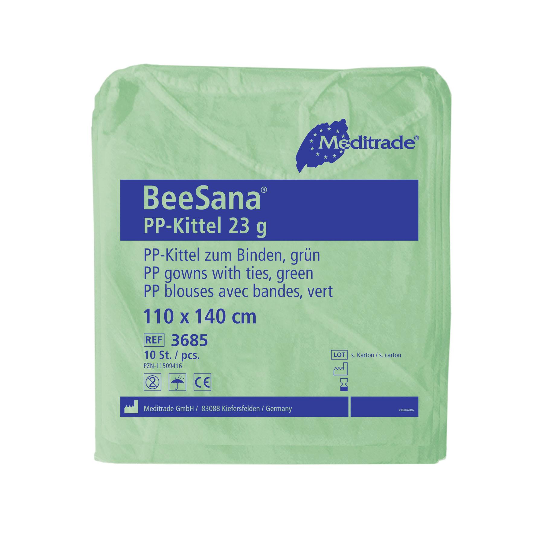 BeeSana PP-Schutzkittel | 23 g/m² | grün | 110 x 140 cm