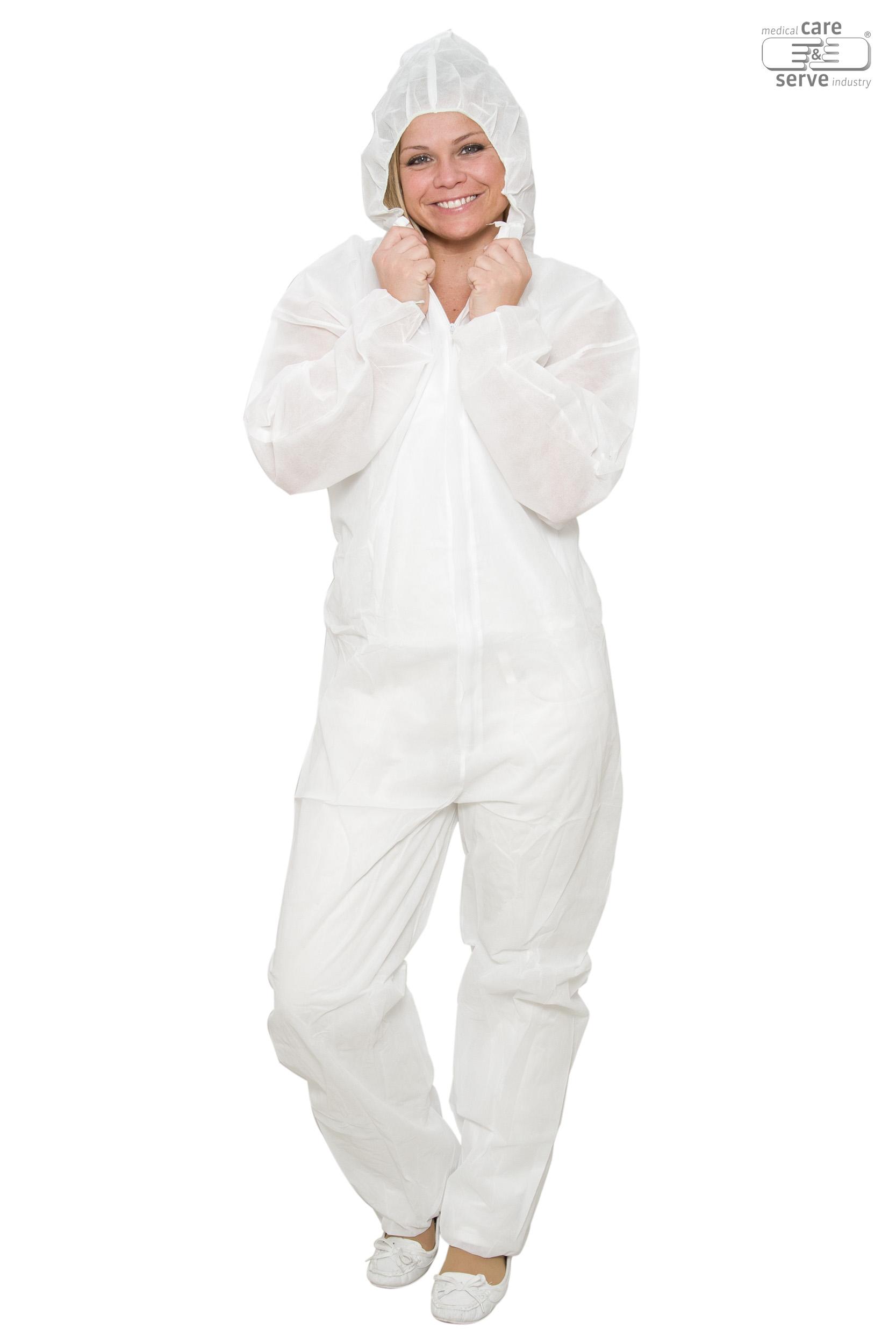 WIROS PP-Einweg-Anzug mit Kapuze extra dick