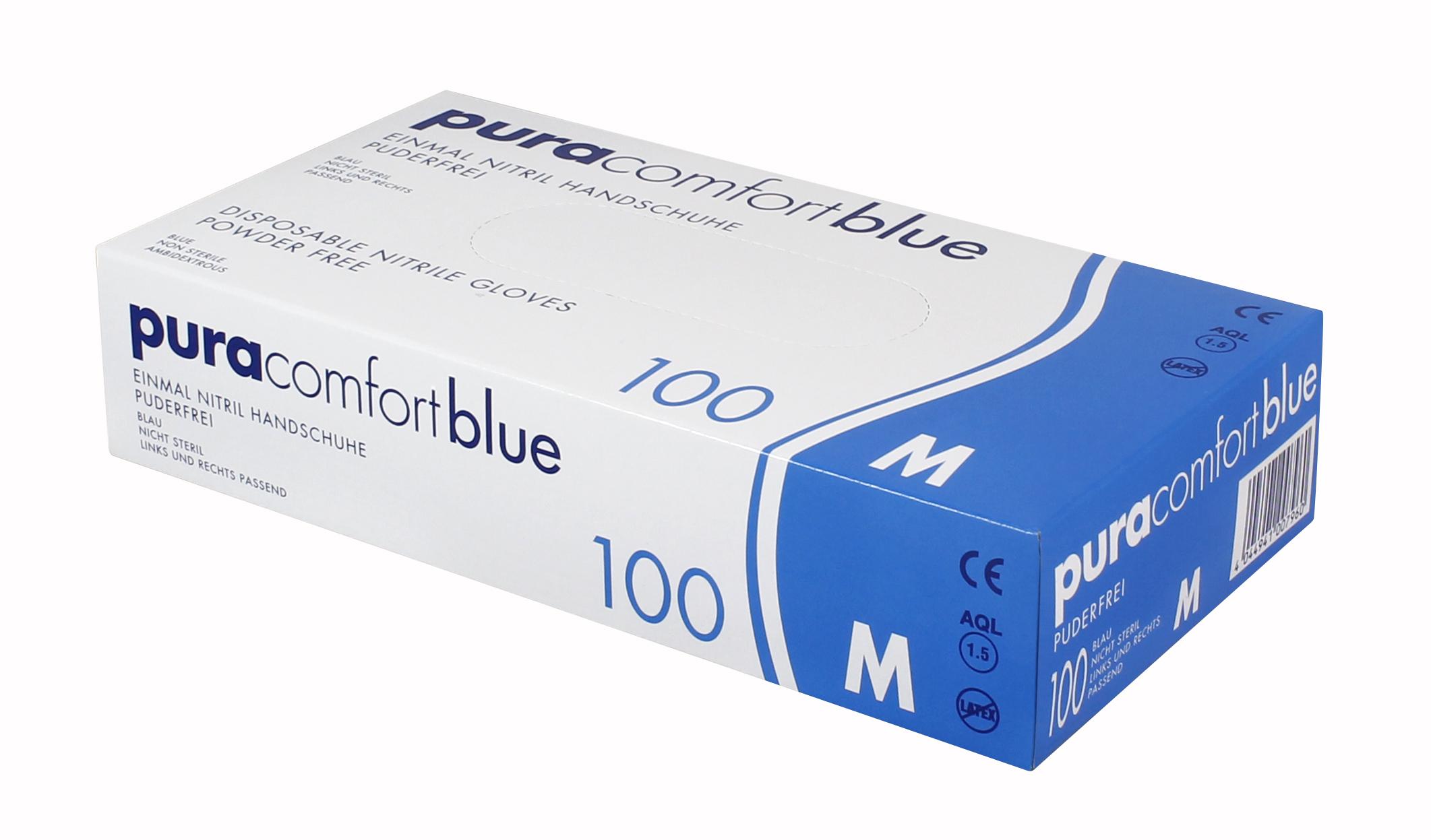 PURA COMFORT BLUE - Nitrilhandschuhe