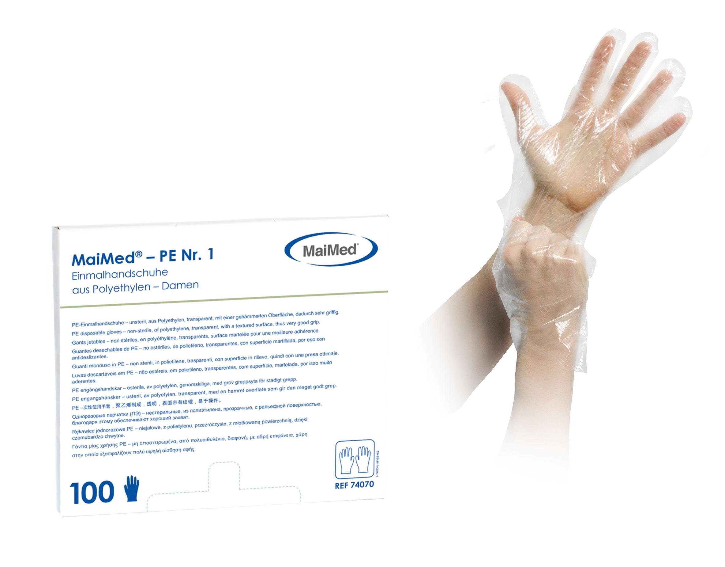 PE-Handschuhe in Box | Entnahme unten