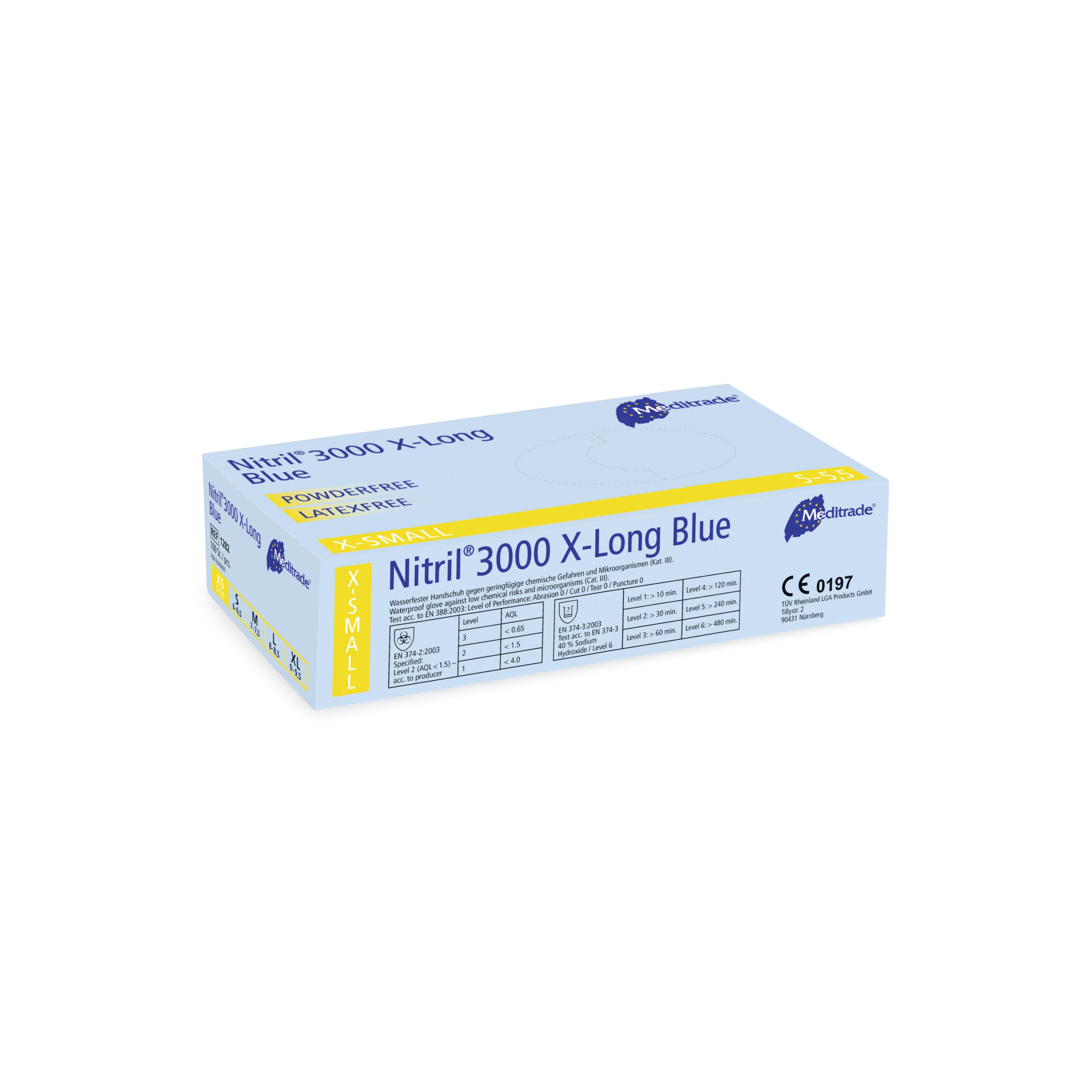 Nitril 3000 X-Long Blue - Nitrilhandschuhe