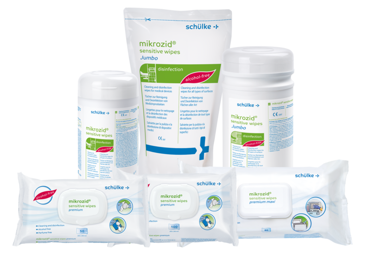 mikrozid sensitive wipes premium - Desinfektionstücher im Flowpack