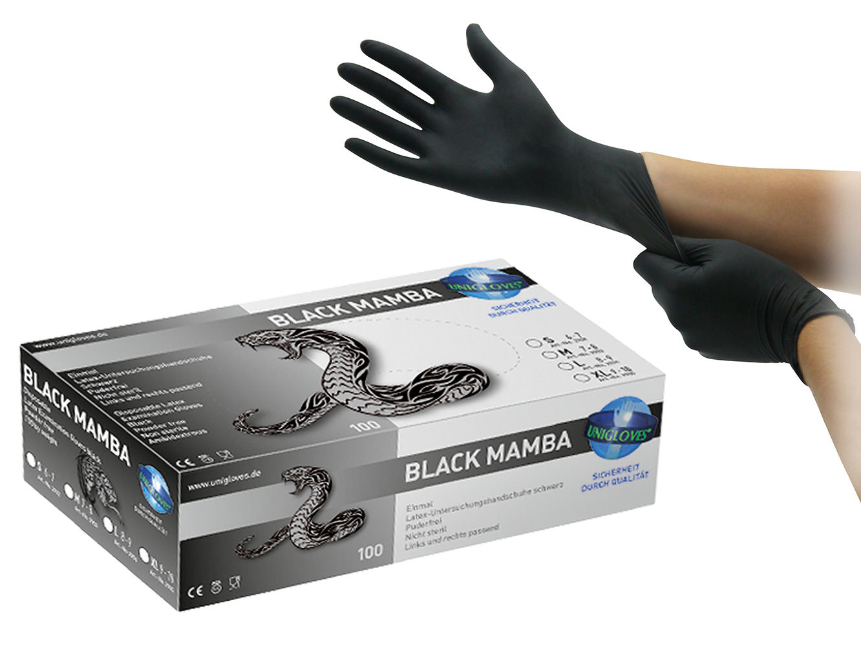 Produktbild Unigloves Black Mamba Latexhandschuhe