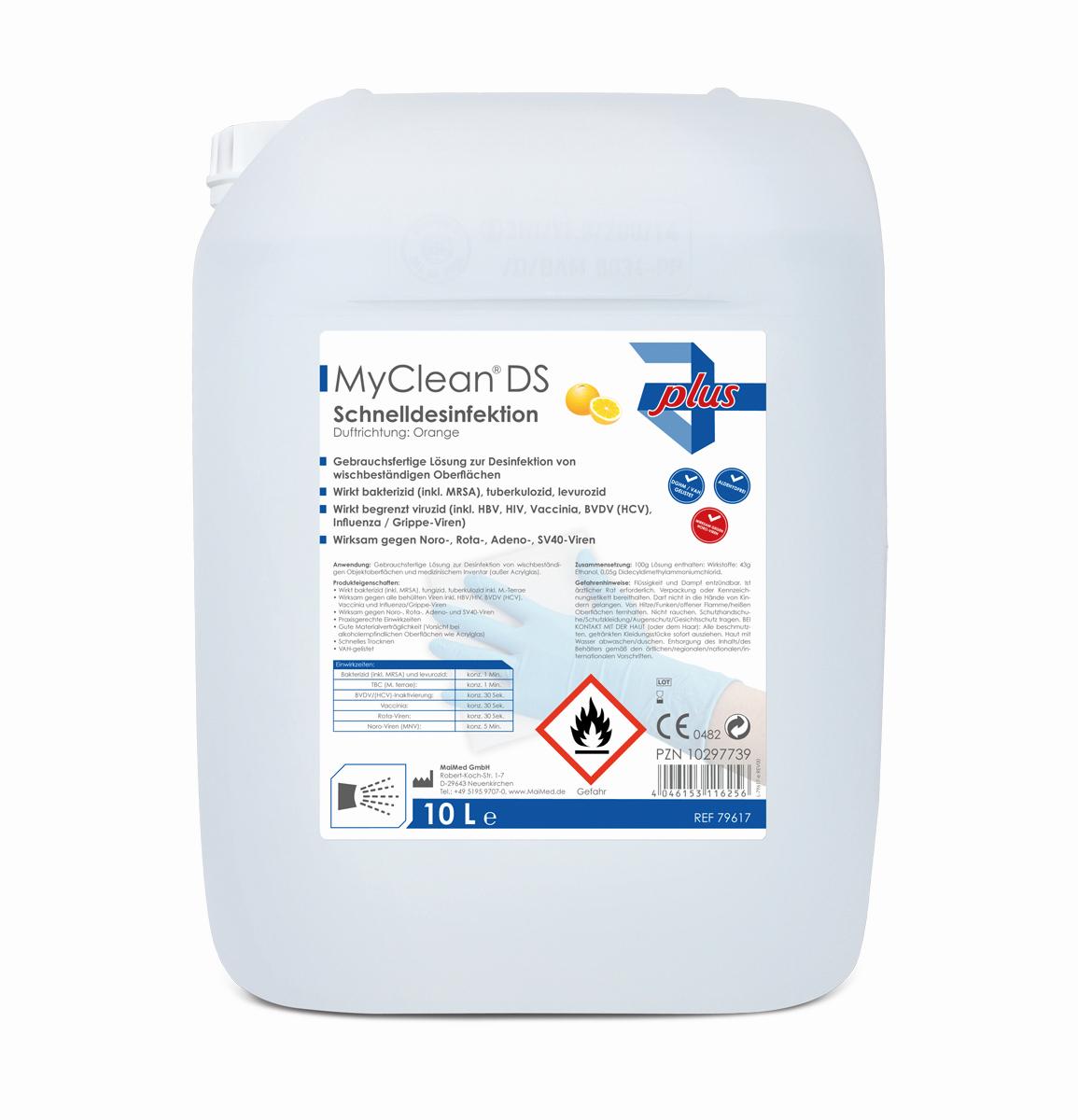 MaiMed MyClean DS Schnelldesinfektion 10 Liter (verschiedene Düfte)