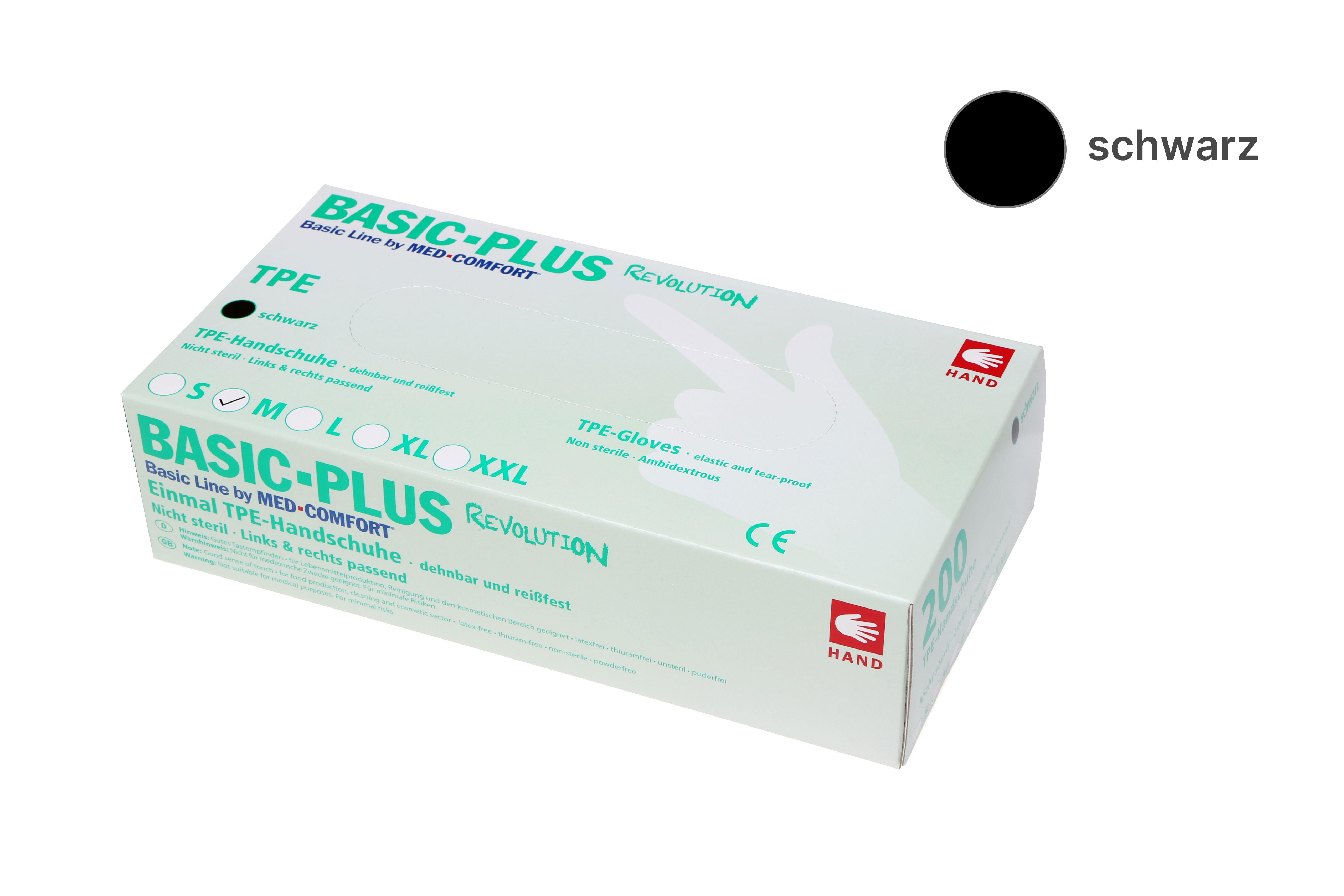 BASIC PLUS REVOLUTION - TPE-Handschuhe schwarz
