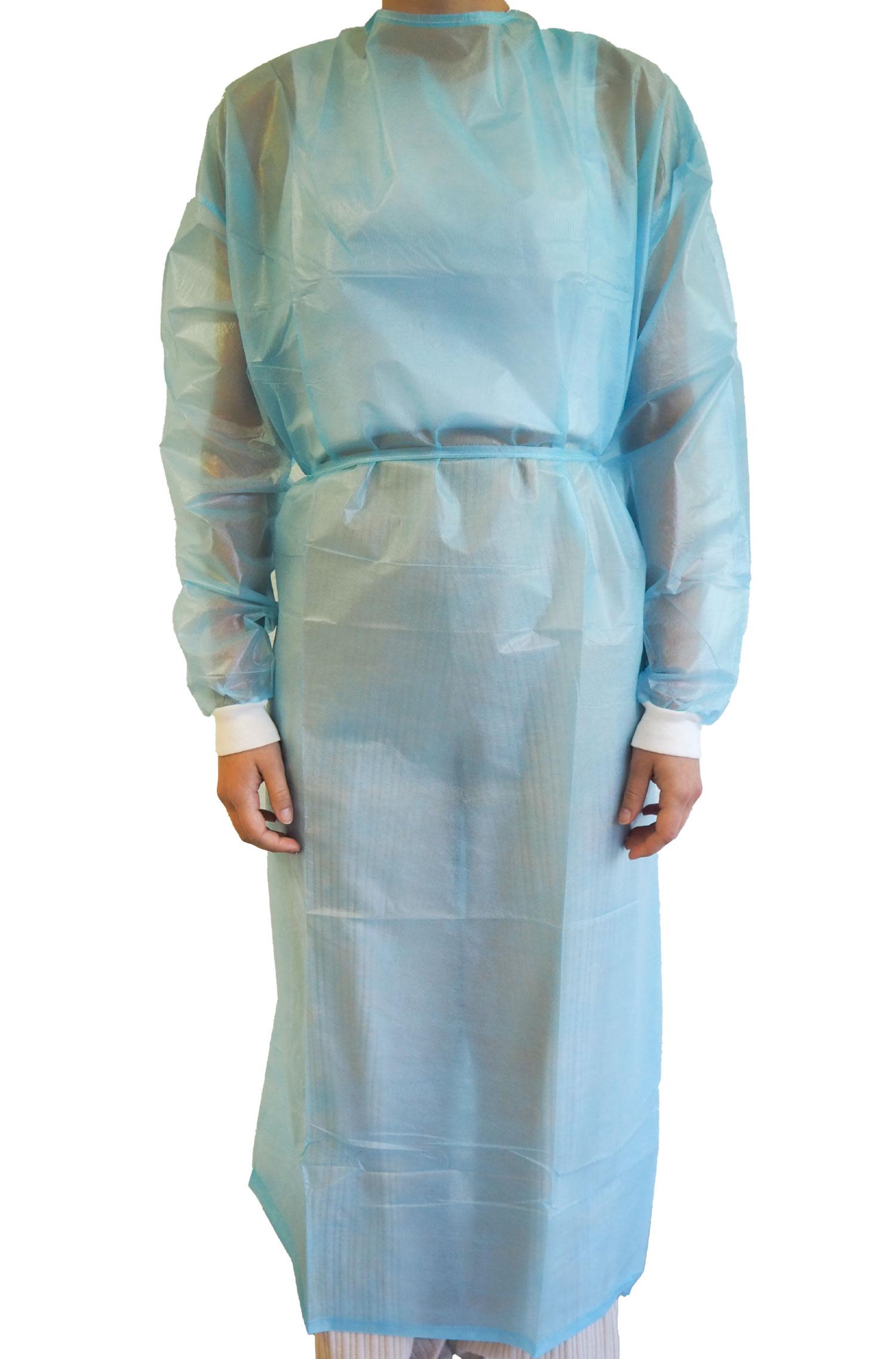 Body Products PP-Schutzkittel mit PE Laminierung | blau | 139x139cm